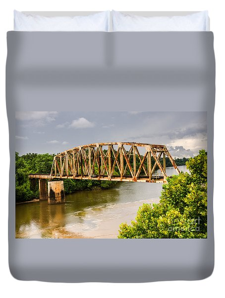 Rusty Old Railroad Bridge Duvet Cover