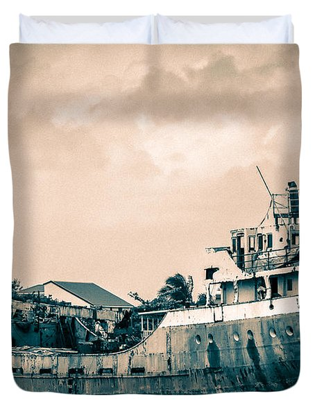 Rusty Ship Duvet Cover