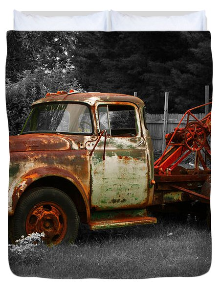 Rusty Tow Truck Duvet Cover