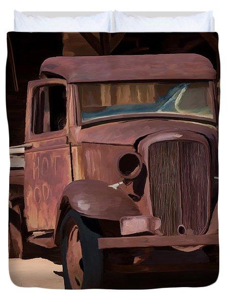 Rusty Truck 04 Duvet Cover by Wally Hampton