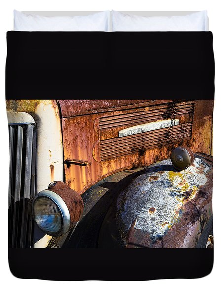 Rusty Truck Detail Duvet Cover by Garry Gay