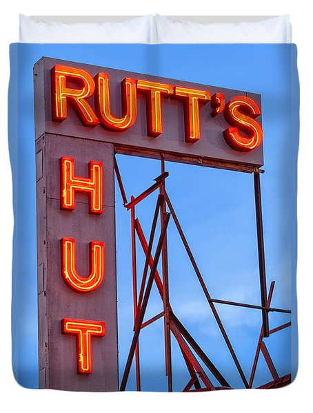 Rutt's Hut Duvet Cover