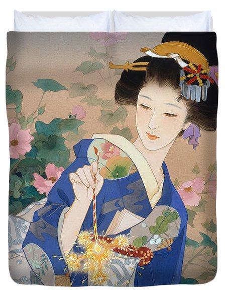 Ryo Duvet Cover by Haruyo Morita
