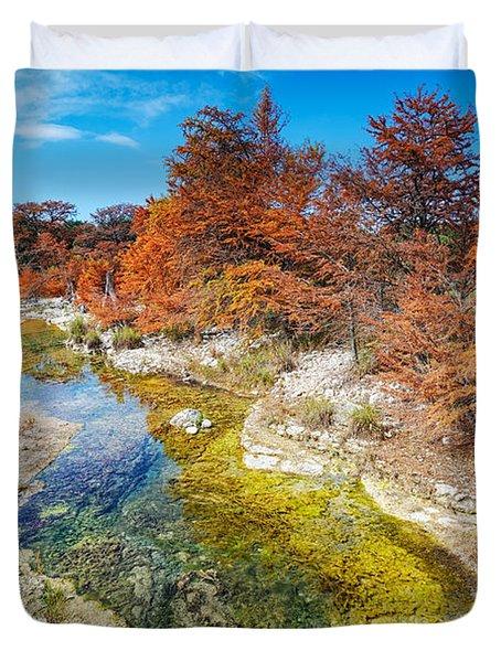 Sabinal River Magic Utopia Texas Hill Country Duvet Cover