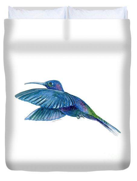 Sabrewing Hummingbird Duvet Cover by Amy Kirkpatrick