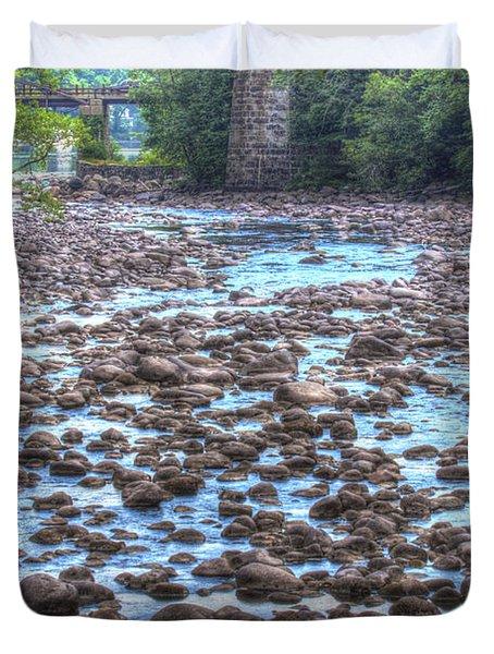 Sacandaga River Duvet Cover