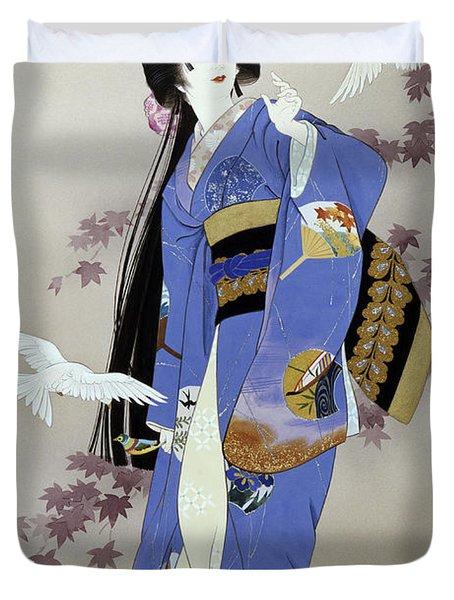 Sachi Duvet Cover by Haruyo Morita