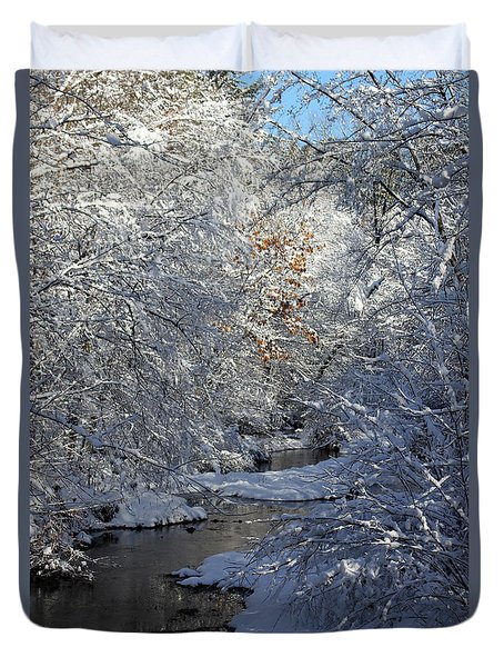 Saco River New Hampshire Duvet Cover