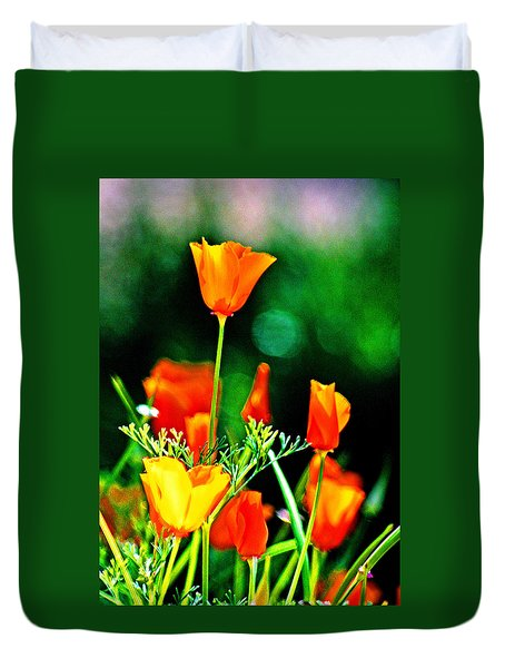Sacramento Delta Poppies Duvet Cover