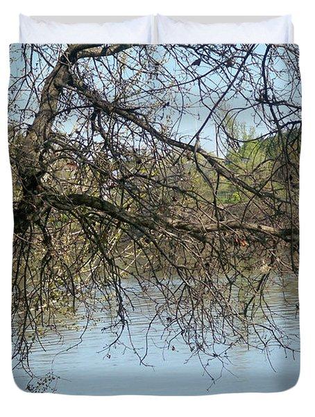 Fall At Sacramento River Scenic Photography Duvet Cover