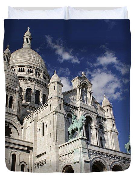Sacre Coeur Paris Duvet Cover by Gary Eason