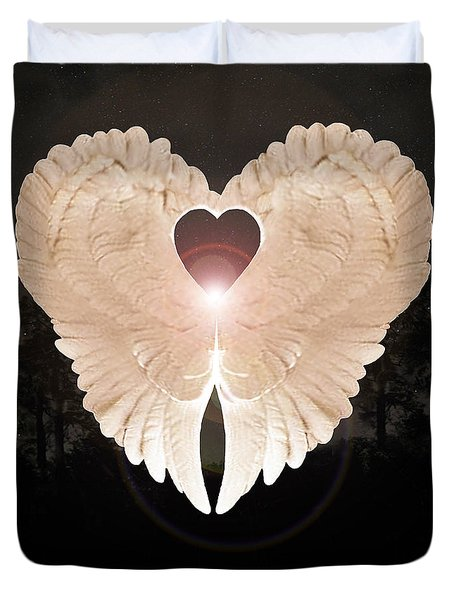 Sacred Angel Duvet Cover