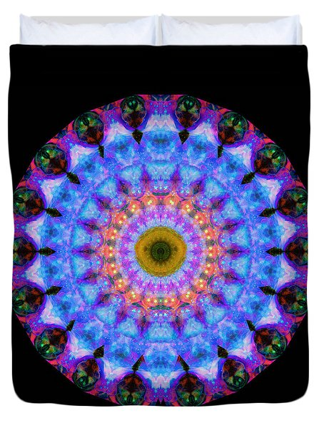 Sacred Crown - Mandala Art By Sharon Cummings Duvet Cover by Sharon Cummings