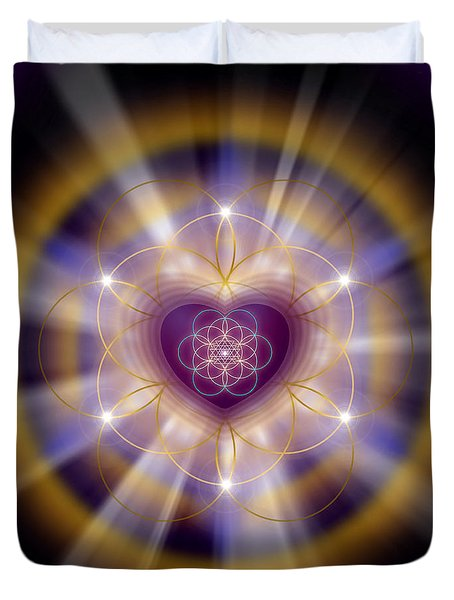 Sacred Geometry 204 Duvet Cover