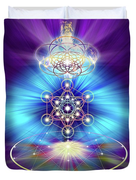 Sacred Geometry 30 Duvet Cover