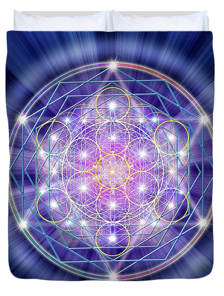 Sacred Geometry 46 Duvet Cover