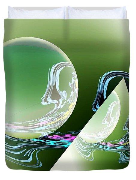 Sacred Geometry Digital Art Duvet Cover by Georgeta  Blanaru