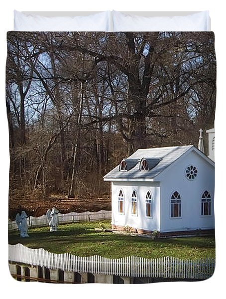 Sacred Ground Duvet Cover by Brian Wallace