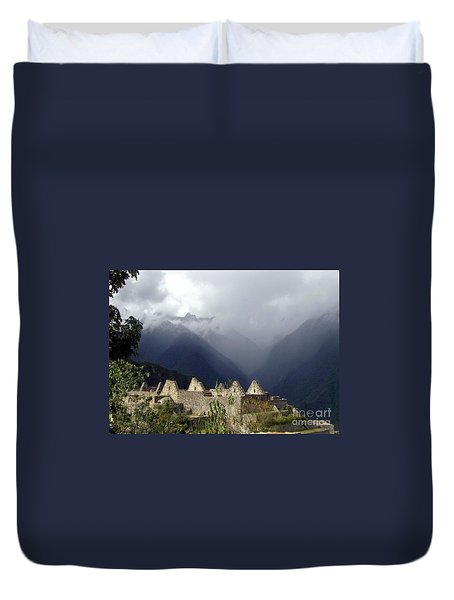 Sacred Mountain Echos Duvet Cover by Barbie Corbett-Newmin