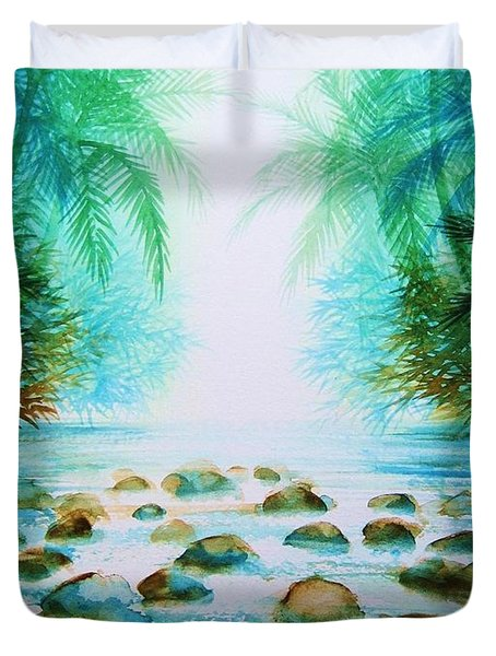 Sacred Pools Duvet Cover