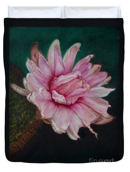 Sacred Red Lotus Duvet Cover