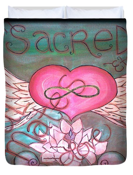 Sacred Soulmates And Twin Flames Duvet Cover