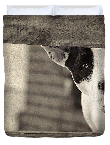 Sad Eyes Duvet Cover by Darren Fisher