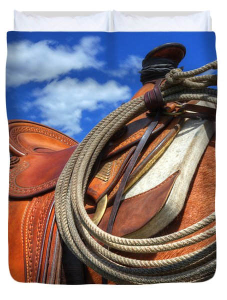 Saddle Up Duvet Cover by Bob Christopher