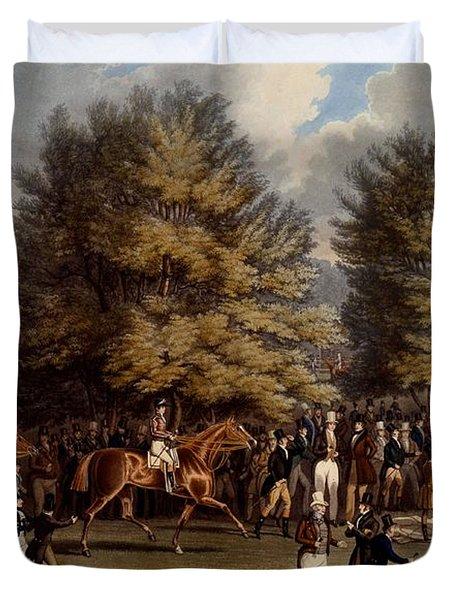Saddling In The Warren, Print Made Duvet Cover
