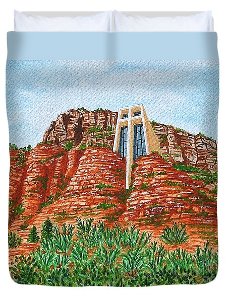 Sadona Church Duvet Cover
