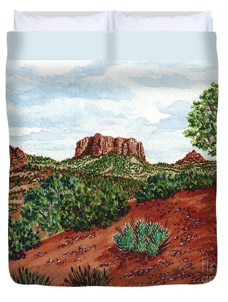 Sadona Two Mountains Duvet Cover