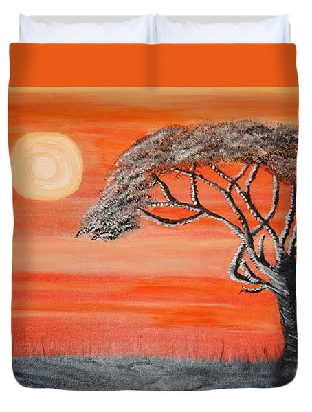 Safari Sunset 2 Duvet Cover
