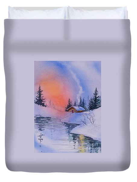 Safe And Warm Duvet Cover by Teresa Ascone