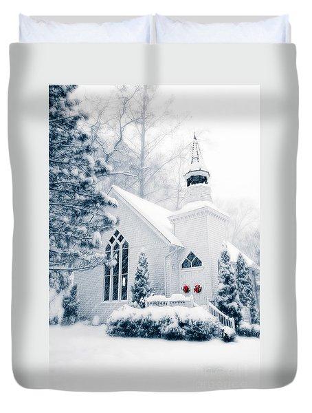 Historic Church Oella Maryland Usa Duvet Cover by Vizual Studio