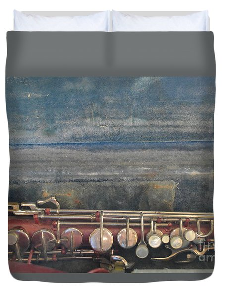 Duvet Cover featuring the photograph Safe Sax In Vegas by Brian Boyle