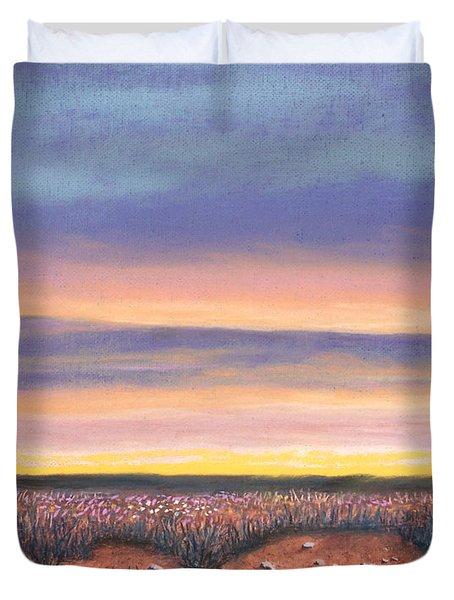 Sagebrush Sunset A Duvet Cover