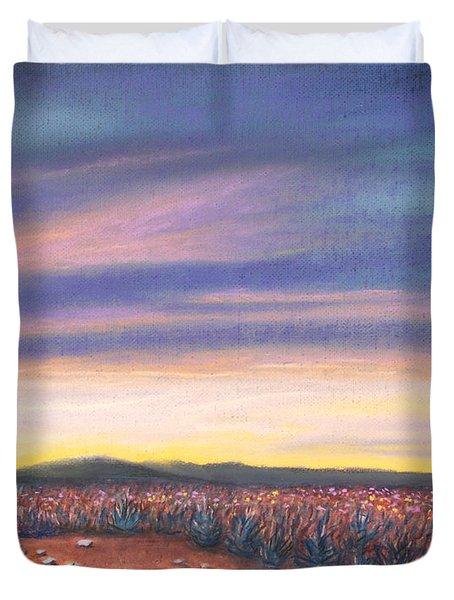 Sagebrush Sunset C Duvet Cover