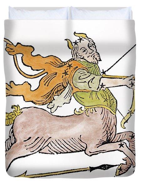 Sagittarius An Illustration Duvet Cover by Italian School
