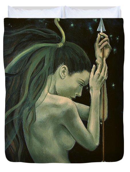 Sagittarius From Zodiac Series Duvet Cover by Dorina  Costras