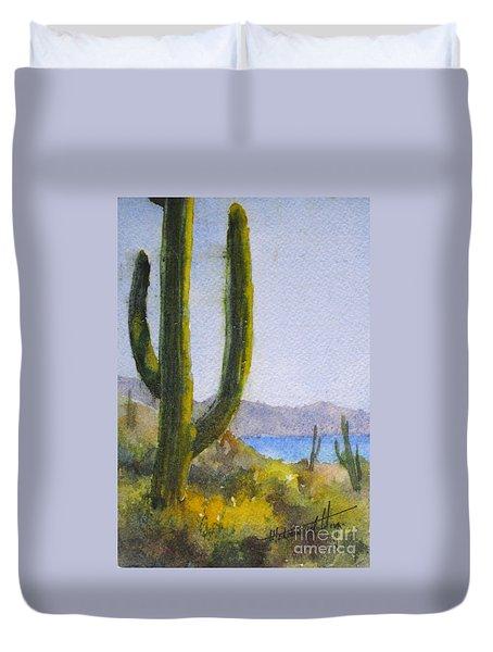 Saguaro Duvet Cover by Mohamed Hirji