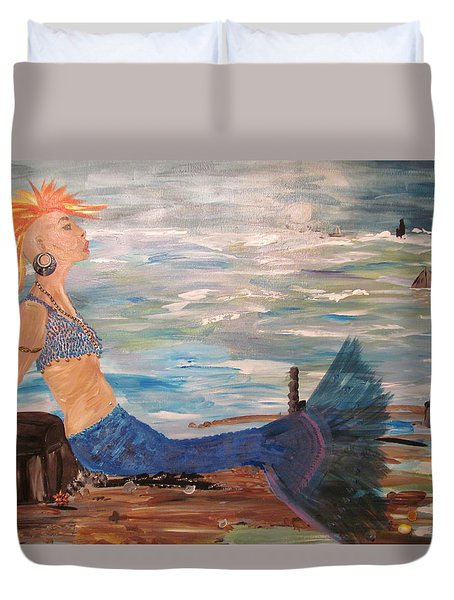 Sahbreena Punk Mermaid Duvet Cover