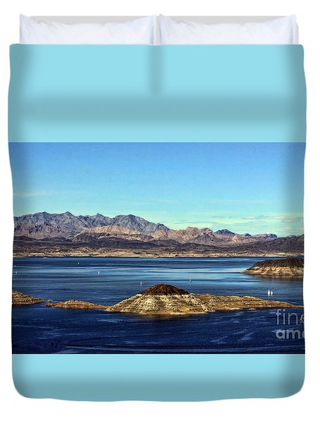Sail Away Duvet Cover by Tammy Espino