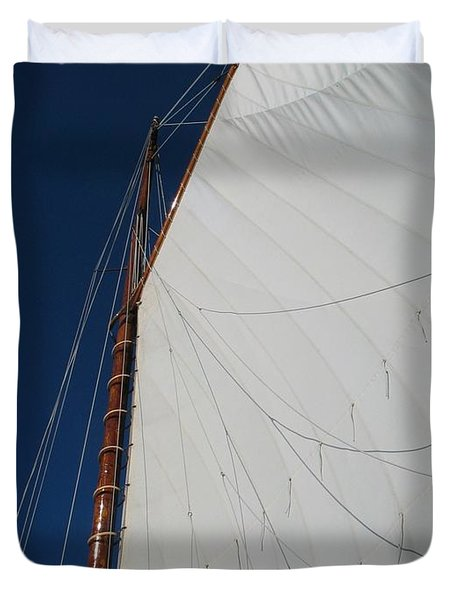 Duvet Cover featuring the photograph Sail Away With Me by Photographic Arts And Design Studio