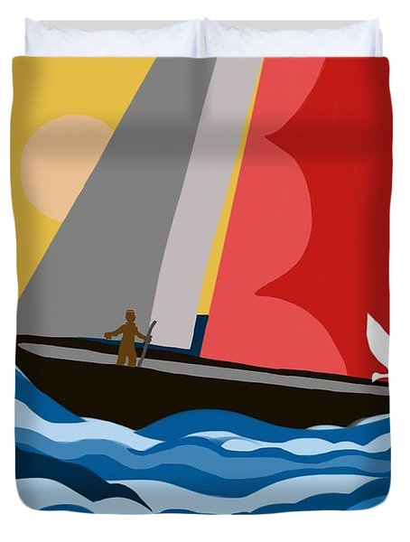 Sail Day Duvet Cover by Christine Fournier