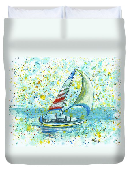 Sail On Maui Duvet Cover by Darice Machel McGuire