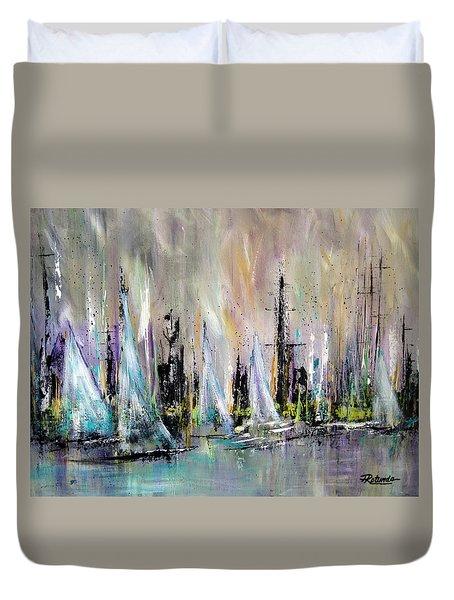 Sail Duvet Cover by Roberta Rotunda