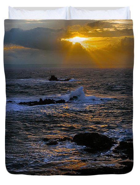Sail Rock Sunrise Duvet Cover by Marty Saccone