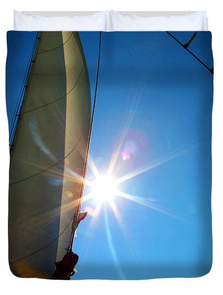 Sail Shine By Jan Marvin Studios Duvet Cover