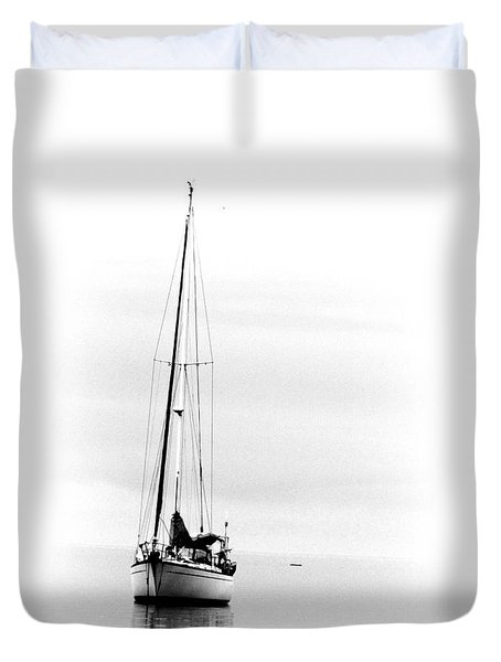 Sailboat Bw Too Duvet Cover