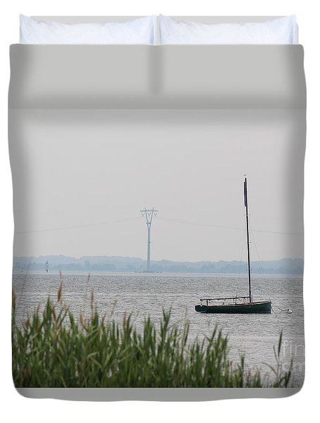 Duvet Cover featuring the photograph Sailboat by David Jackson